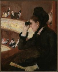 "[Mary Cassatt, ""In the Lodge,"" 1878. Source: Museum of Fine Arts Boston Website]"
